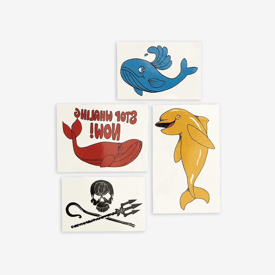 Stop Whaling Temporary Tattoos